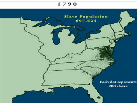 Did most African slaves come to the United States after 1790?