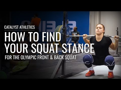 Find Your Squat Stance For The Olympic Squat