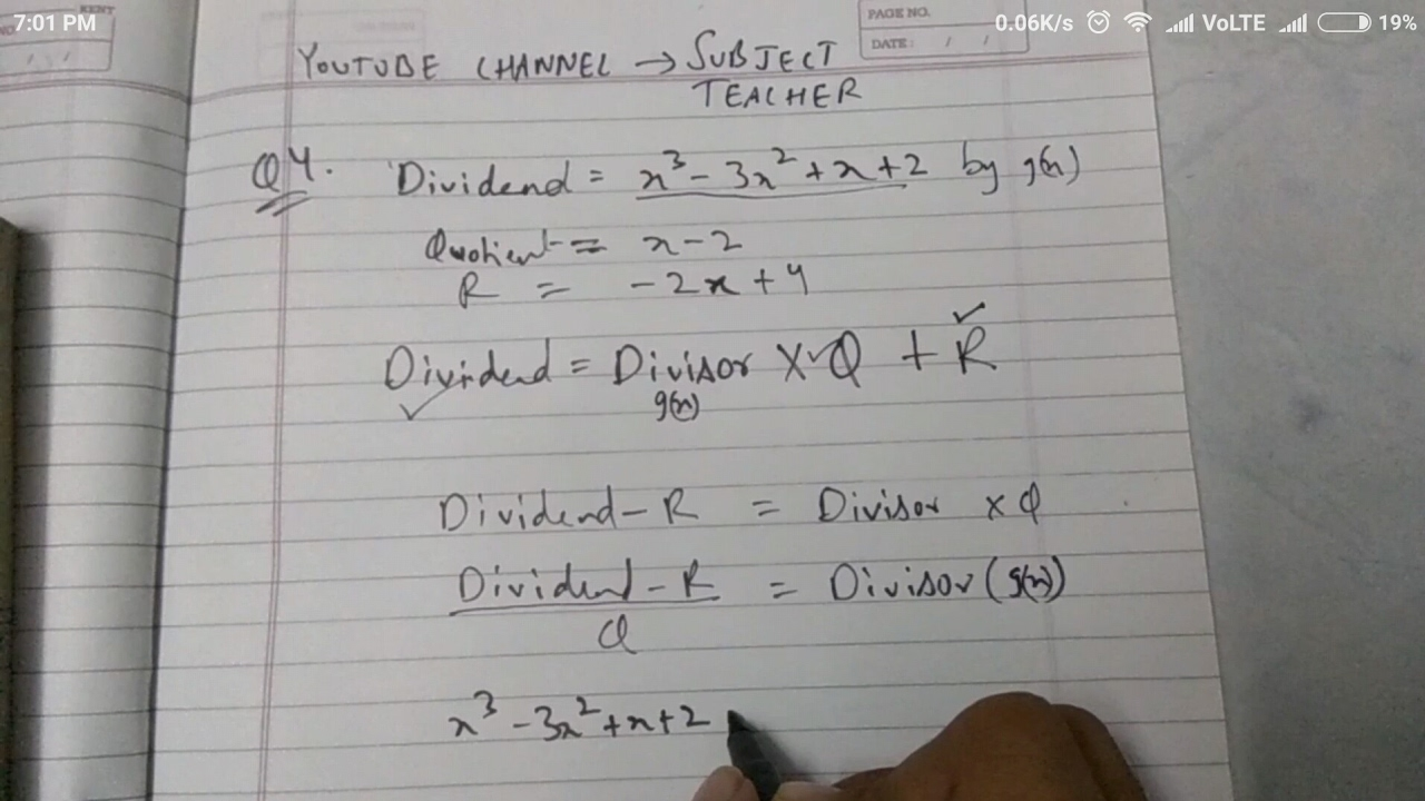 Chapter 2 polynomials EX 2 3 maths class 10 (N C E R T in English or Hindi)