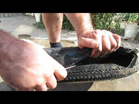 Как вырезать лебедя из покрышки