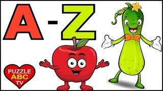 Phonics Song, ABCs, Learn Alphabet with Fruits and Vegetables
