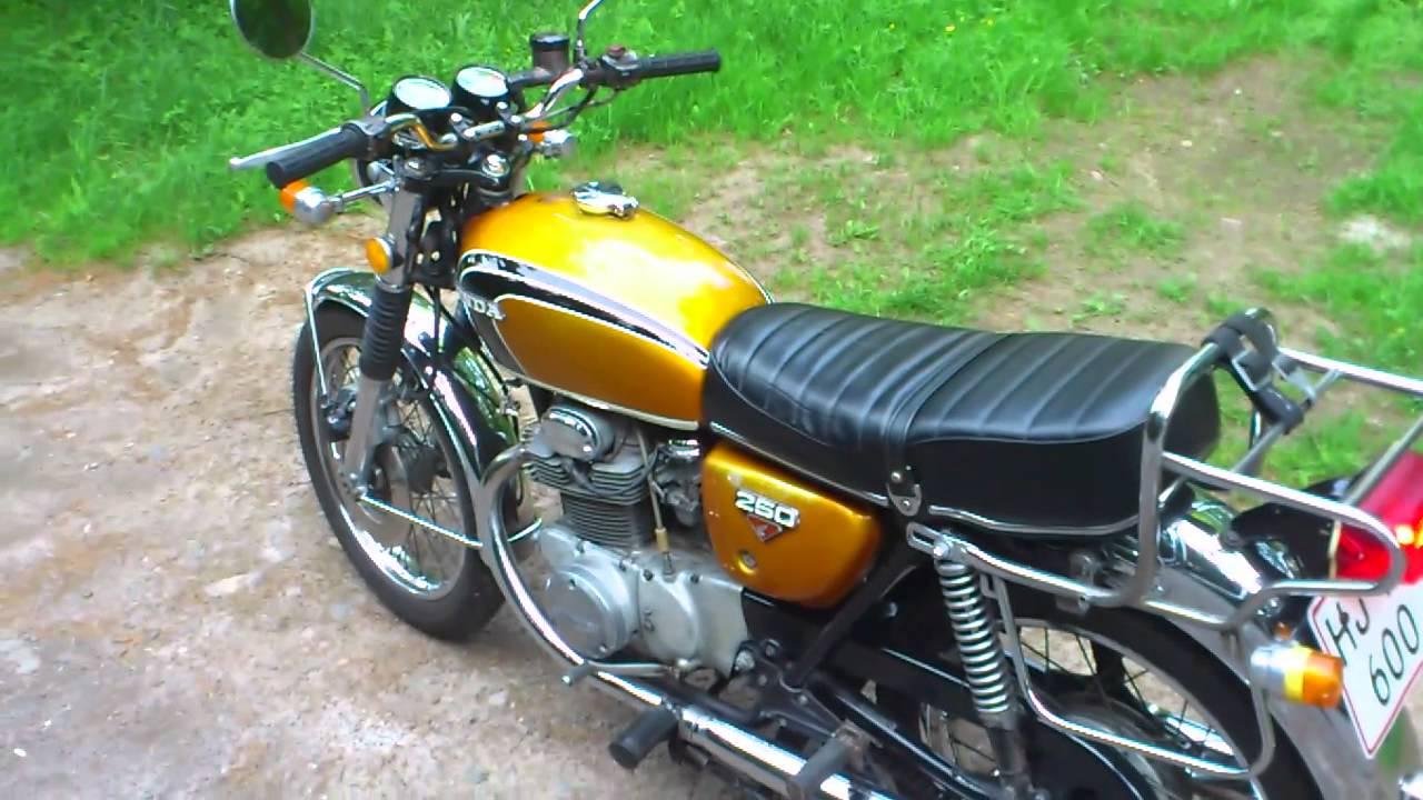 1973 Honda Cb 250 Youtube