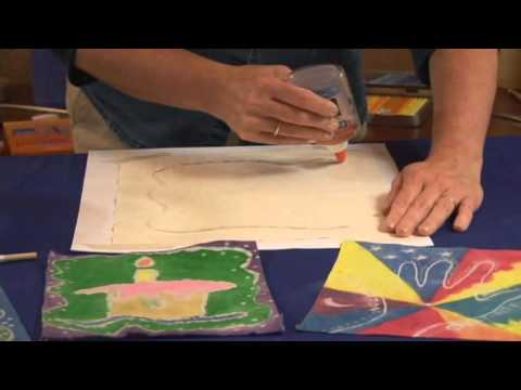 Easy Fabric Batik With Glue Lesson Plan