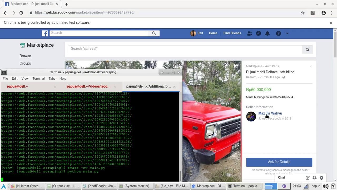 Facebook Marketplace Scraper