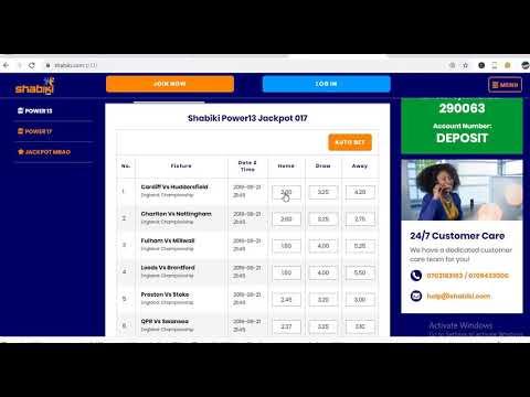 Correct shabiki power 13 jackpot predictions – MULTIBET