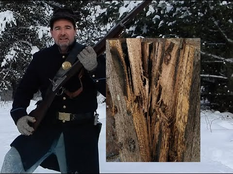 1861 Springfield vs RailRoad Tie Civil War Rifled Musket