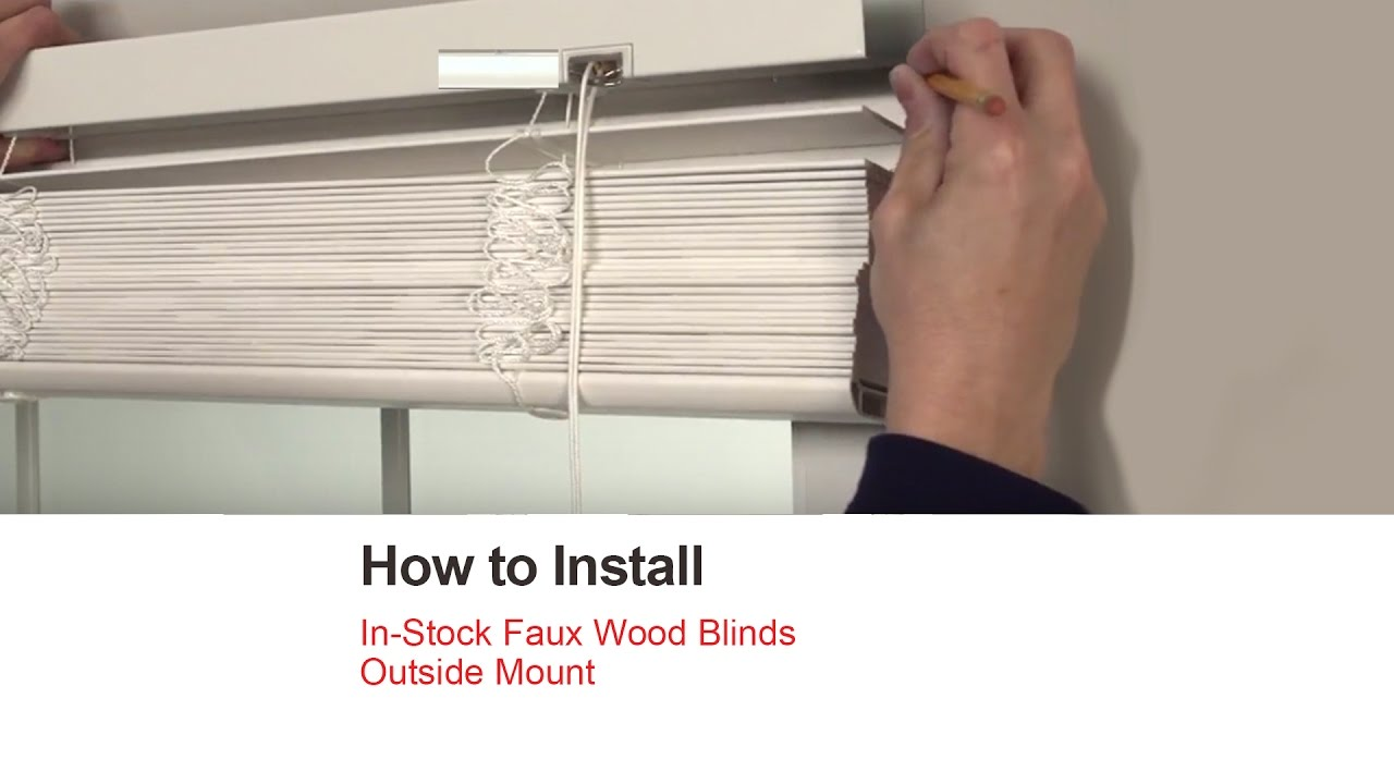 Bali Blinds How To Install In Stock Faux Wood Blinds