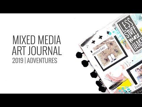 Mixed Media Art Journal 2019 | ScrapMedia Adventures