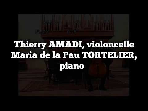 Thierry AMADI et Maria Pau TORTELIER Schumann Debussy Beethoven