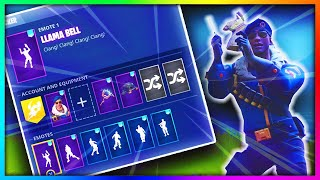 *NEW* Llama Bell EMOTE on ALL of my SKINS in Fortnite: Battle Royale
