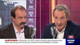 Philippe Martinez face à Jean-Jacques Bourdin sur RMC et BFMTV thumbnail