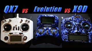 taranis q x7 vs turnigy evolution vs taranis x9d
