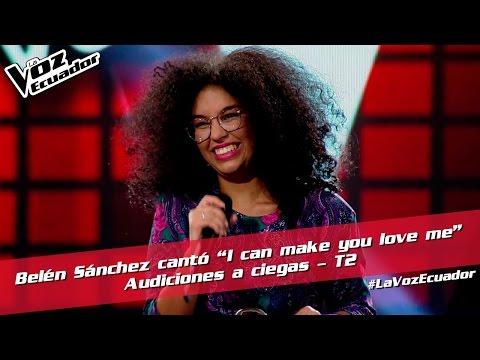 """Belén Sánchez cantó """"I can make you love me"""" - Audiciones a ciegas - T2 - La Voz Ecuador"""