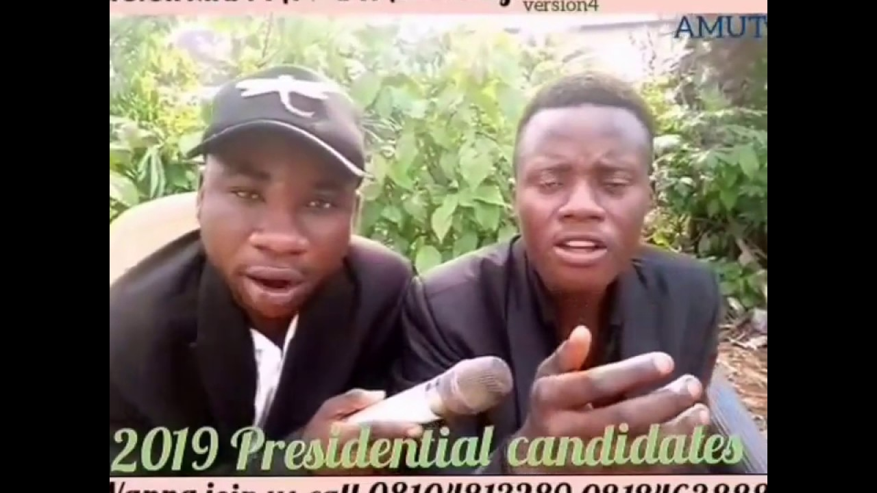NIGERIA 2019 PRESIDENTIAL CANDIDATES(YOUTH RISE)