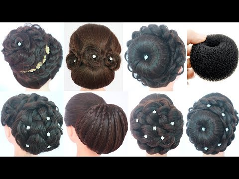 1-donut-and-7-juda-hairstyle-||-hairstyle-for-gown-||-wedding-hairstyle-||-simple-hairstyle