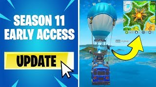 Fortnite delayed SEASON 11, but I pretended I got it EARLY