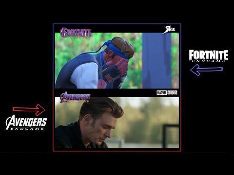 Avengers: Endgame - Fortnite Parody Trailer (Comparison)