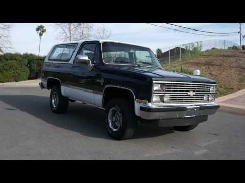 2 Owner 1984 Chevy Blazer 4×4 Silverado Yukon Classic For Sale