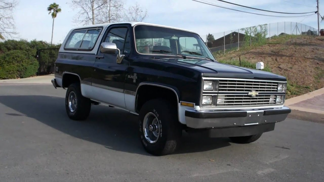 2 Owner 1984 Chevy Blazer 4x4 Silverado Yukon Classic For Sale