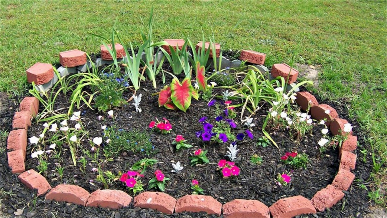 Simple Flower Bed Ideas - YouTube