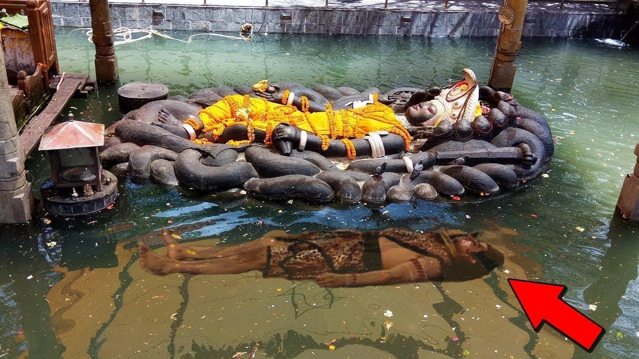 ವಿಶ್ವದ ಏಕೈಕ ತೇಲುವ ವಿಷ್ಣುವಿನ ವಿಗ್ರಹ   Lord Vishnu   Shiva Temple   Budhanilkantha   Kannada News  