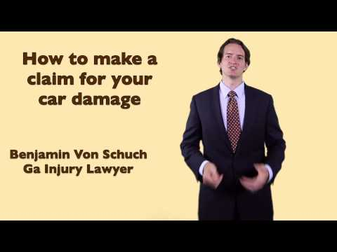 How to make an insurance claim for car damage in Georgia    Atlanta Accident Lawyer