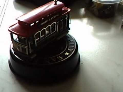 Music Box Spieluhr I Left My Heart In San Franciso Cable Car