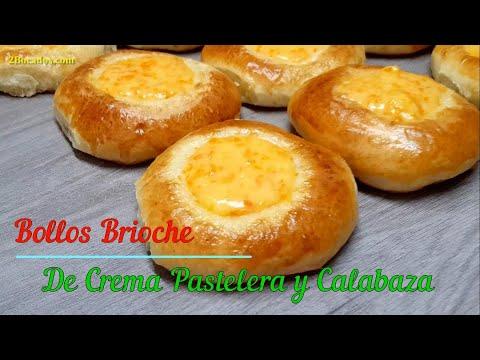 Bollos de Crema Pastelera y Calabaza | Pan de Leche Relleno con Crema Pastelera #73