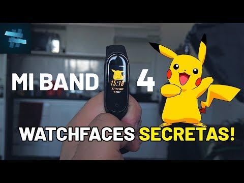 PERSONALIZE a sua MIBAND 4 com WATCHFACES SECRETAS!