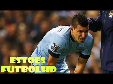 Lesion Del Kun Aguero | Manchester City 1-0 Everton | (06/12/2014) Premier League HD