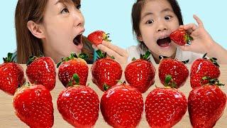 서은이의 딸기 탕후루 딸기 따기 체험 생크림 딸기 먹방 카트 젤리 Strawberry Tanghulu Mukbang Seoeun Story