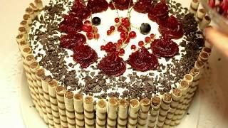 """Торт """"Мелодия"""" / Как собрать и украсить торт"""