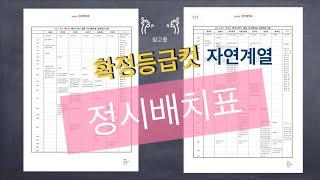 2020정시 확정등급컷 정시배치표: 서울경기권 자연계열