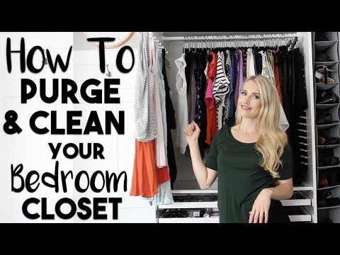 ORGANIZE: 20 Ways to Clean, Purge and Organize Your Bedroom Closet that are Borderline GENIUS!!