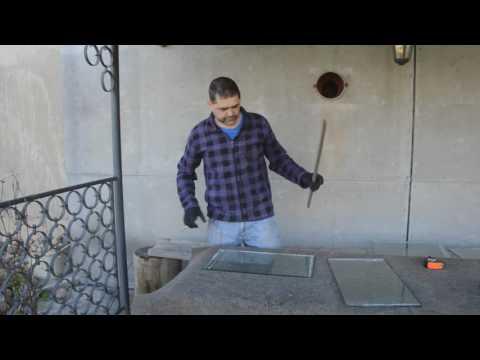 Как отрезать толстое стекло и закруглить его края