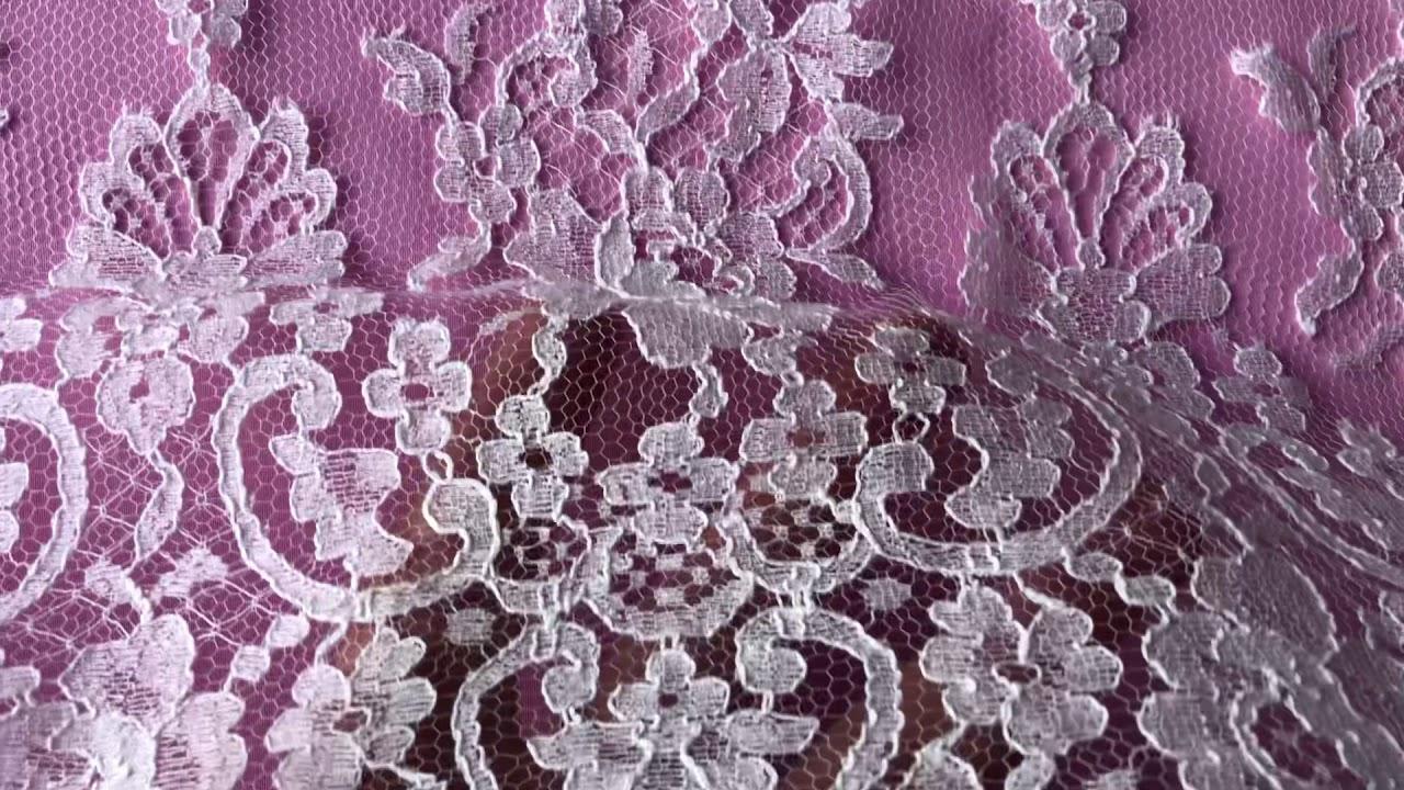Soft White Chantilly Bridal Lace – Natasha - YouTube