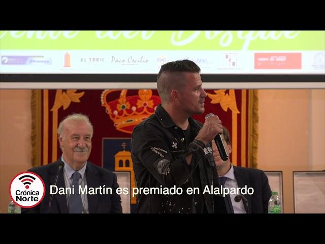Dani Martín es premiado en el Torneo de Vicente del Bosque de Alalpardo.
