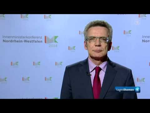 Thomas de Maizière, Deutscher Bundesinnenminister, im ARD tagesthemen Interview 11.12.2014