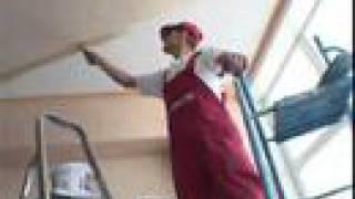 Наклейка и покраска обоев на потолок(+ В этом ролике показана наклейка виниловых и флизелиновых обоев на потолок. Покраска обоев на потолке...., 2008-06-18T23:48:10.000Z)