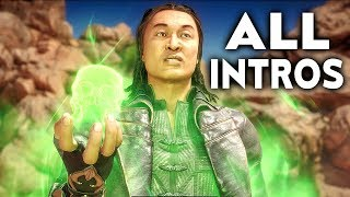 MORTAL KOMBAT 11 Shang Tsung All Intros Dialogue Character Banter MK11