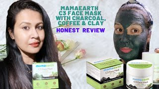 MAMAEARTH C3 FACE MASK REVIEW and DEMO SKIN BRIGHTENING TIGHTENING MASK