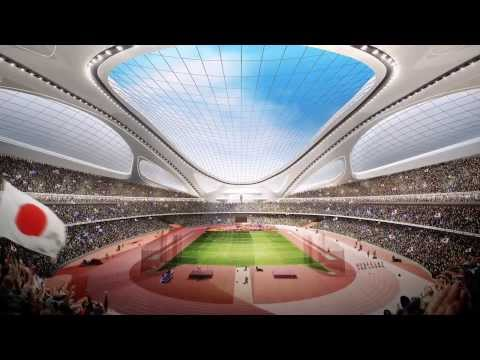 New National Stadium for Tokyo 2020 Summer Olympics [HD]
