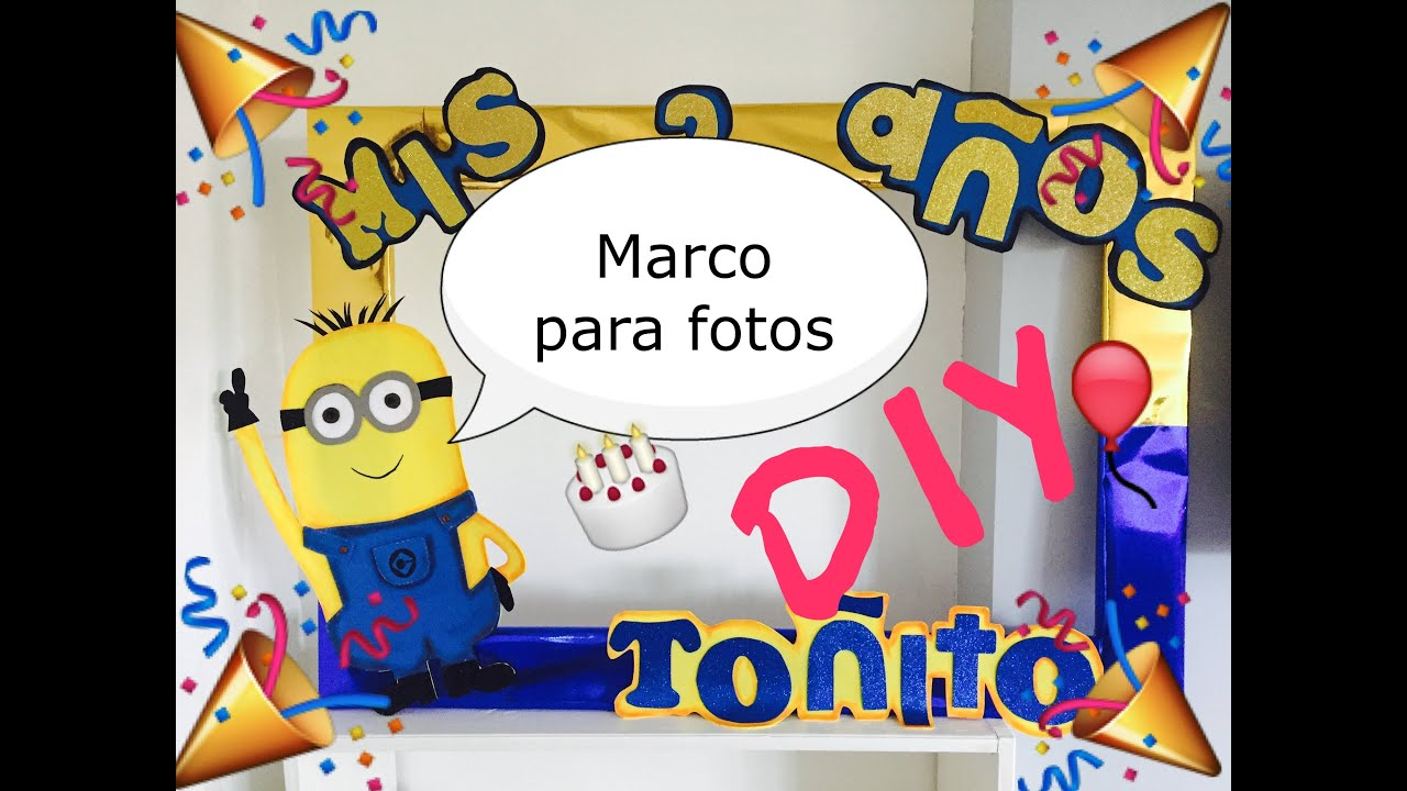 Diy marco para fotos fiestas youtube for Marco fotos grande