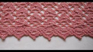 ✔ Кайма крючком для отделки изделия Урок 45   Beautiful border crochet