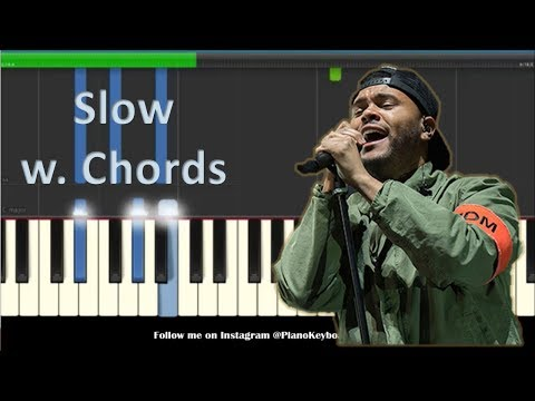 the-weeknd-call-out-my-name-slow-piano-tutorial-with-chords