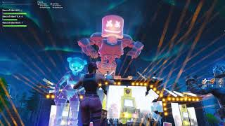 Marshmello full EVENT in FORTNITE!! EPIC QUALITY!!