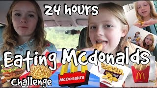 24 hours eating Mcdonalds! Challenge