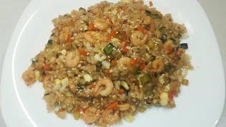 🍚Жареный рис с креветками🦐Сэу боккэм баб. 🥢새우 볶음밥. Shrimp Rice.