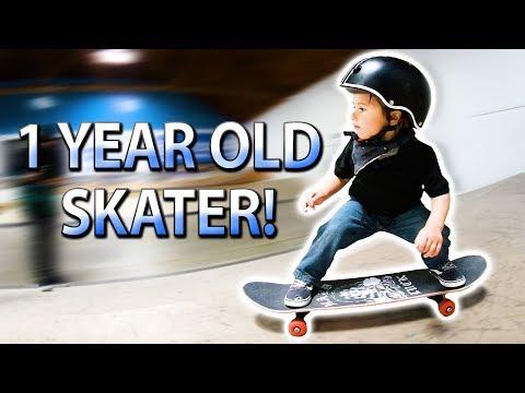 1 YEAR OLD SKATEBOARDER!?