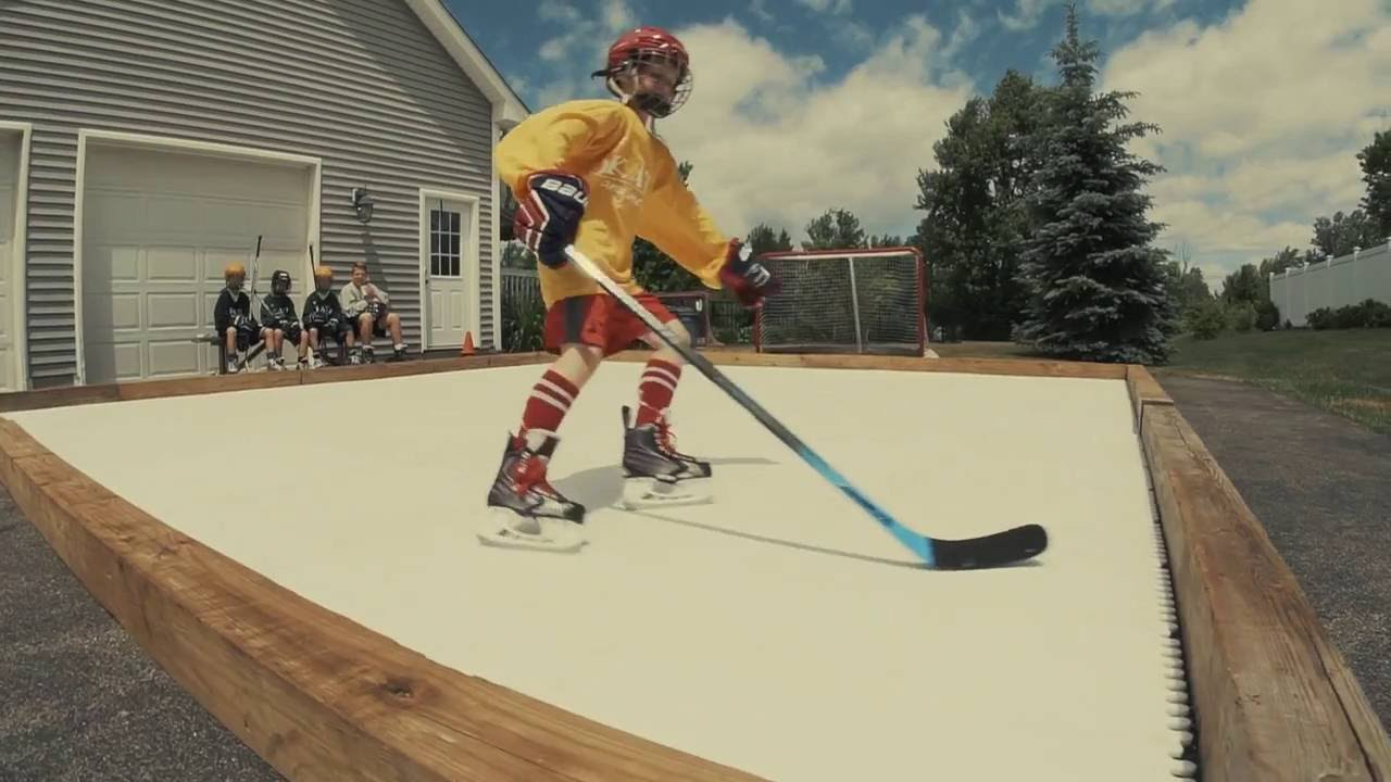 skate anytime synthetic ice rink surface youtube